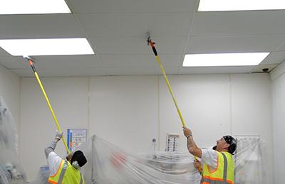 نحوه تمیز کردن سقف کاذب